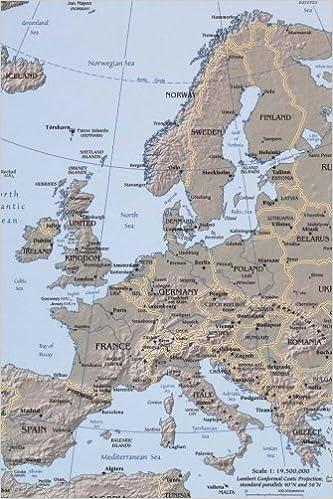 Map of Modern Day Europe Journal: Take Notes, Write Down ...