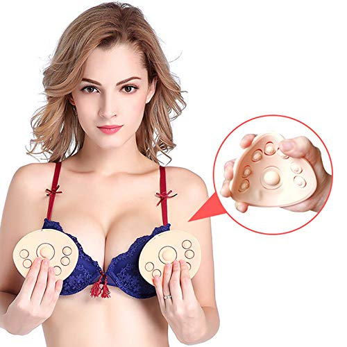 Breast Electric Massager, Soft Silicone Embedded Enhancer Zoom in Wireless Multifunctional Best Gift