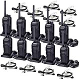 Retevis RT27 2 Way Radios with Earpieces Long Range Rechargeable Hands-free Rugged Walkie Talkie (10 Pack)