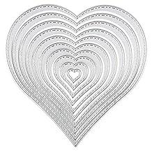 C-Pioneer Heart Set Creative Cutting Dies Stencil DIY Scrapbook Card Album Paper Craft Embossing Template
