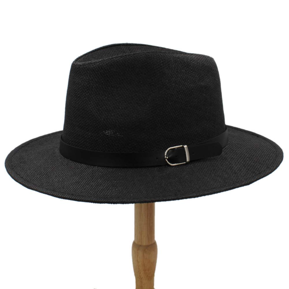 Kinue Gentlemen Cool Fedora Hats Fashion Wide Brim Hats Men Boys Gangster Billycock Sun Hats The British Leisure Cap Summer Caps Boy Very Soft by Kinue