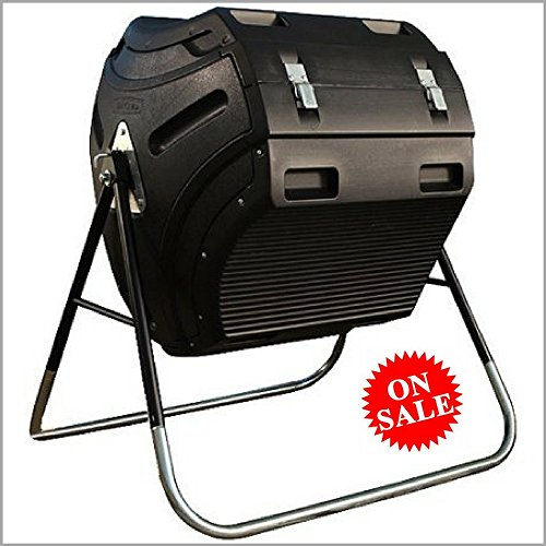 80 Gallon Compost Tumbler Outdoor Garden Plastic Large Capacity Composter Tumblrer & eBook By Easy&FunDeals (Tumbler Plastic Composter)