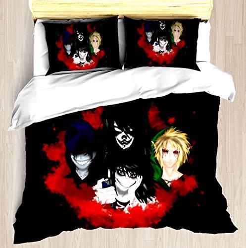 Creepypasta - Duvet Cover Set Soft Comforter Cover