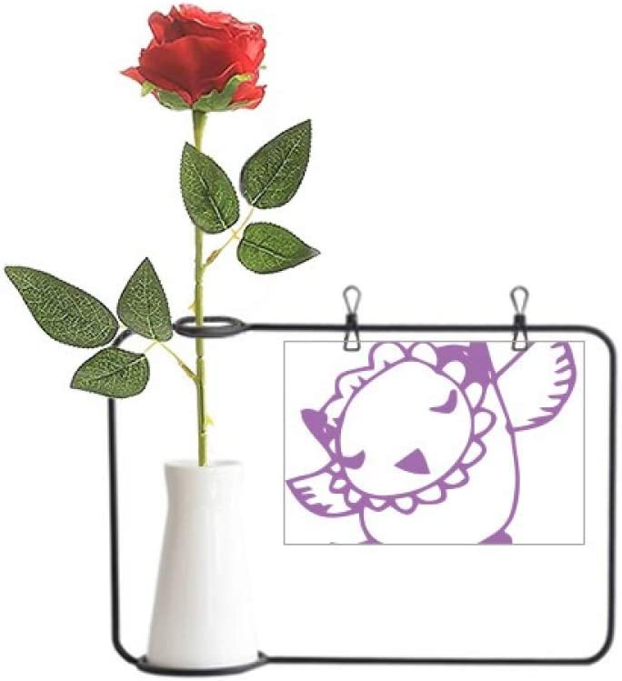 Amazon Com Yaox Cartoon Bird Simple Line Drawing Animal Artificial Rose Flower Hanging Vases Decoration Bottle Home Kitchen