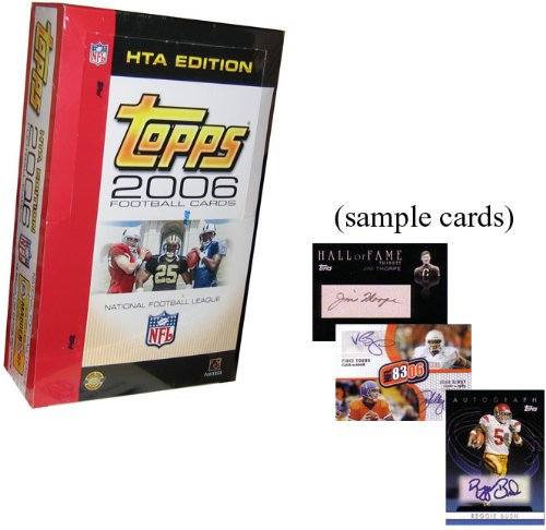 2006 Topps Football Cards Unopened Jumbo Hobby Box (12 packs/box, 35 cards/pack) - Randomly inserted autograph & jersey cards plus rookies of Reggie Bush, Matt Leinart, Vince Young & (Matt Leinart Nfl Jersey)