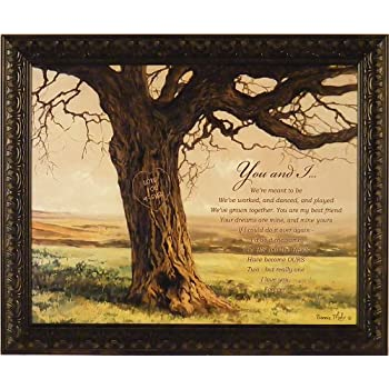 Forever By Bonnie Mohr 20x24 You And I Inspirational Marriage Anniversary  Framed Art Print Picture