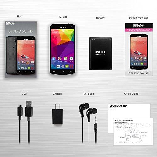 BLU Studio X8 HD - 5.0'' GSM Unlocked Smartphone -White by BLU (Image #6)