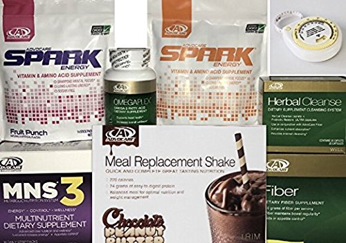 Advocare 24 Day Challenge, Chocolate Peanut Butter Meal Replacement + Bonus..MNS3, Fruit & Mandrain Orange Spark by AdvoCare