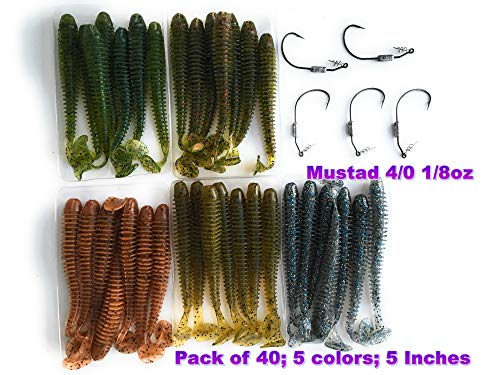 Wtrees Best Fishing Soft Baits Kits Plastic (Swimbaits Kit 18, Soft Lures)