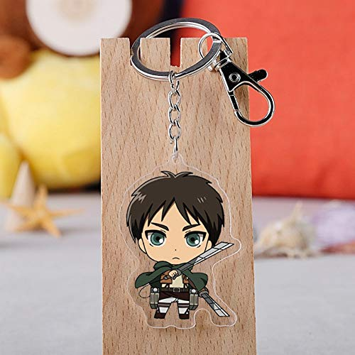 Elibeauty Attack On Titan Anime Accessories Mini Doll Keychain Backpack Pendants Key Chain Silicone Anime Figure Keyring Accessories Best Gift for Anime Fans( Style 09)