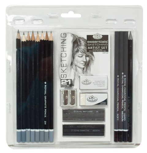 - Royal & Langnickel RART-200 Essentials Sketching Pencil Set, 21-Piece