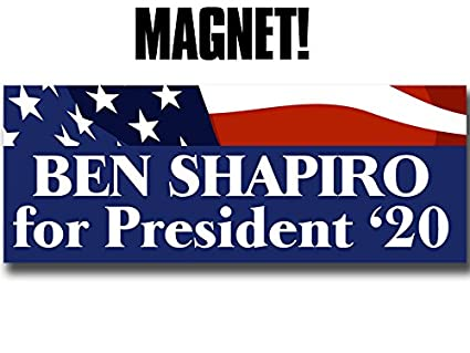 Magnetic ben shapiro for president 20 magnet 2020 jewish conservative trump