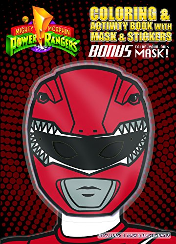 Bendon 42114 Coloring & Activity Book with Mask (Red Mask), Power Rangers