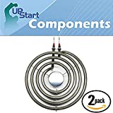2-Pack Replacement Kenmore / Sears 664RF3020XYW1 6 inch 4 Turns Surface Burner Element - Compatible Kenmore / Sears 660532 Heating Element for Range, Stove & Cooktop