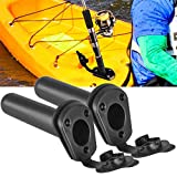 Dynal-living 1x2x Flush Mount Fishing Boat Rod Holder Bracket With Cap Cover for Kayak Pole