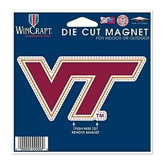 "WinCraft NCAA Virginia Tech Die Cut Magnet, 4.5"" x 6"""