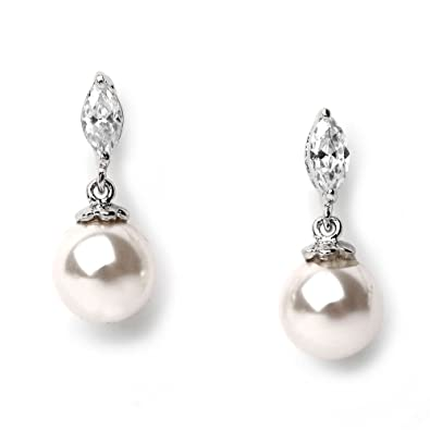 usabride wedding earrings silver plated