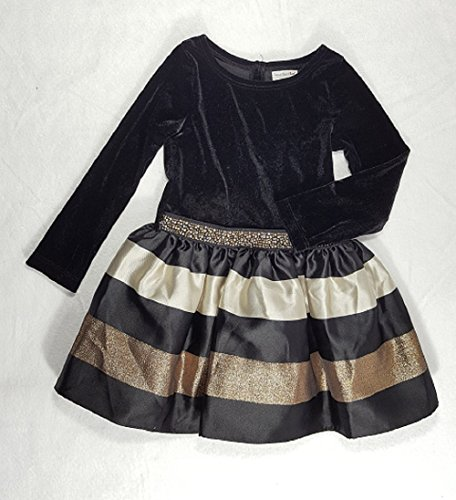 S.H Sweet Heart Rose Velvet Drop-Waist Special Occasion Dress,3, Black