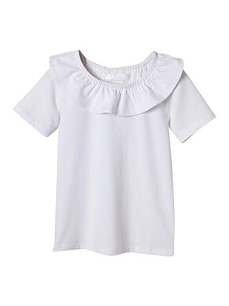 0d1b3f543d567 Cyrillus T-Shirt col Pierrot Fille  Amazon.fr  Vêtements et accessoires