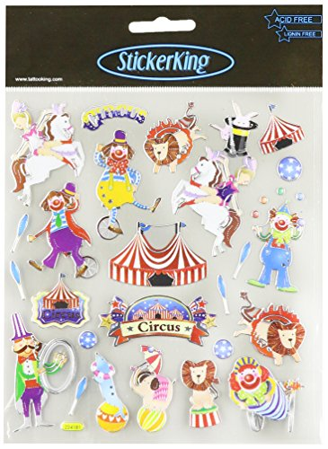 Tattoo King Multicolored Stickers, Circus Time!