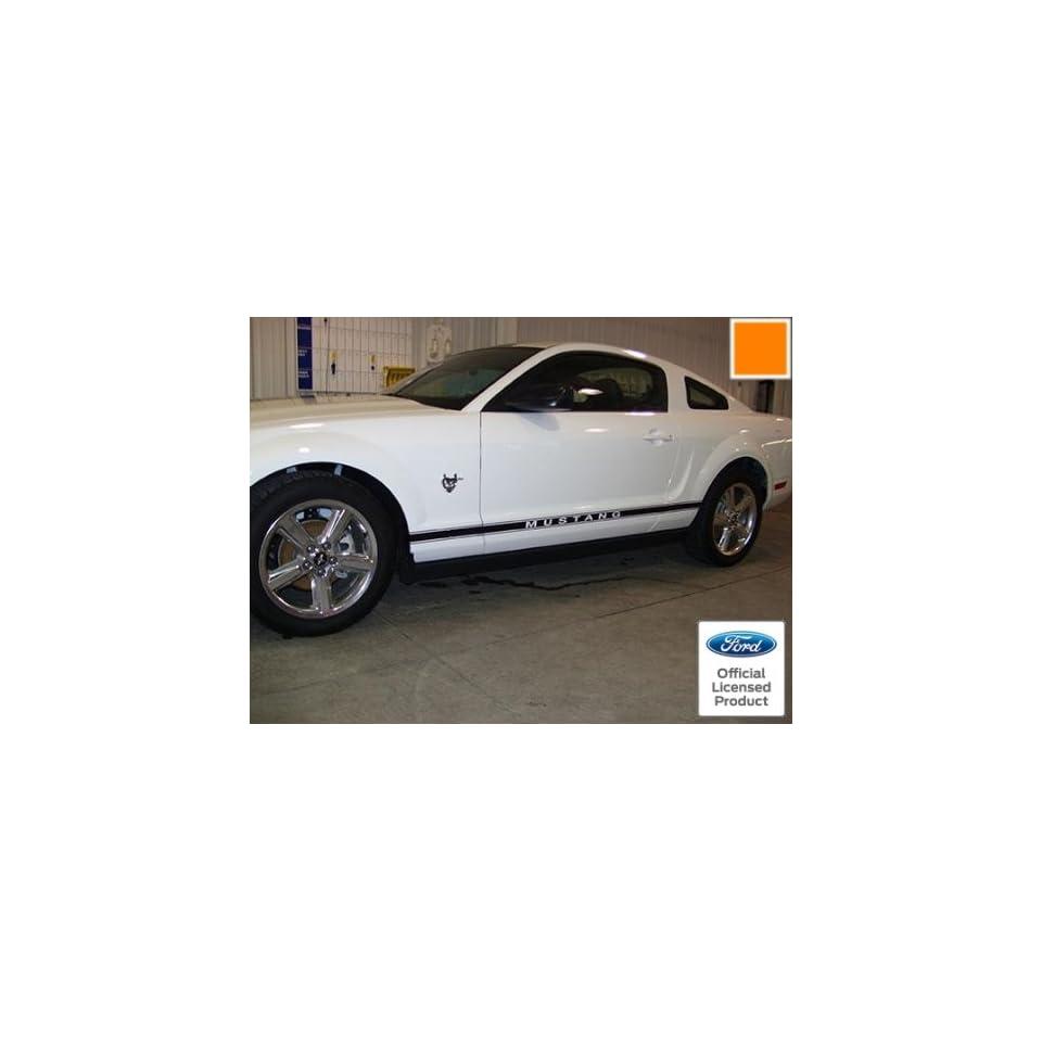 Ford Mustang Rocker Panel Door Side Stripes Decals Orange   RJ   CO