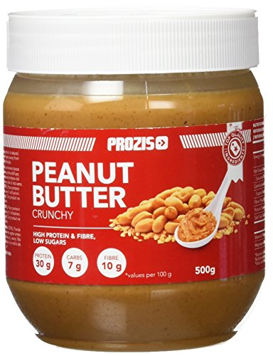 Prozis Peanut Butter 500g - Deliciosa y de Textura Cremosa - Fuente Natural de Proteína - Apta para Dietas Veganas, Kosher y Halal - Sin Sal Añadida y Sin ...