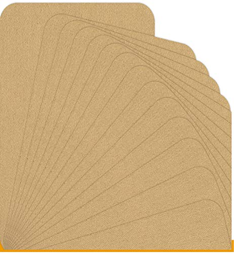 Fabrics Khaki Twill - Ebateck 14Pcs Iron On Patches for Clothing Khaki, Fabric Beige Patch Repair Clothes, Fix Couch Pants Pockets Holes Knees Elbow - Upgrade Adhesive 0.12 with Large Size 5-Inch-by-7-Inch & Small Size