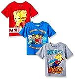 Daniel's Tiger Neighborhood Boys' Toddler Daniel 3 Pack Tee Shirts, Multi, 3T