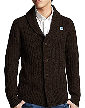 Button Down Cardigan Sweater, Brown