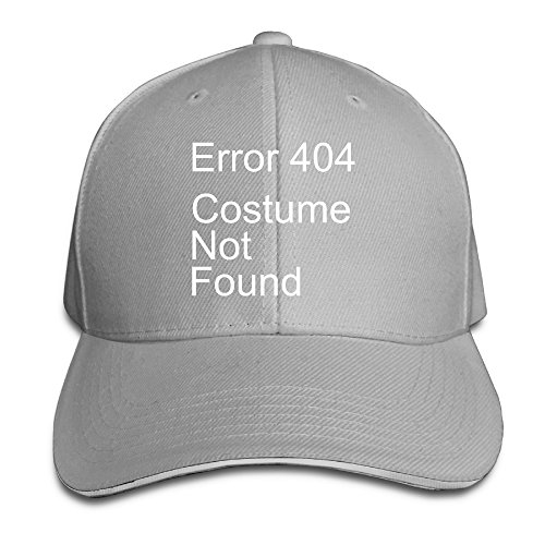 Halloween Costumes Hollywood Florida (Error 404 Costume Not Found Halloween Geek Snapback Sandwich Cap Adjustable)