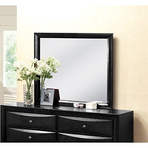 Ireland Contemporary Mirror - ACME 04164 Ireland Mirror, Black Finish