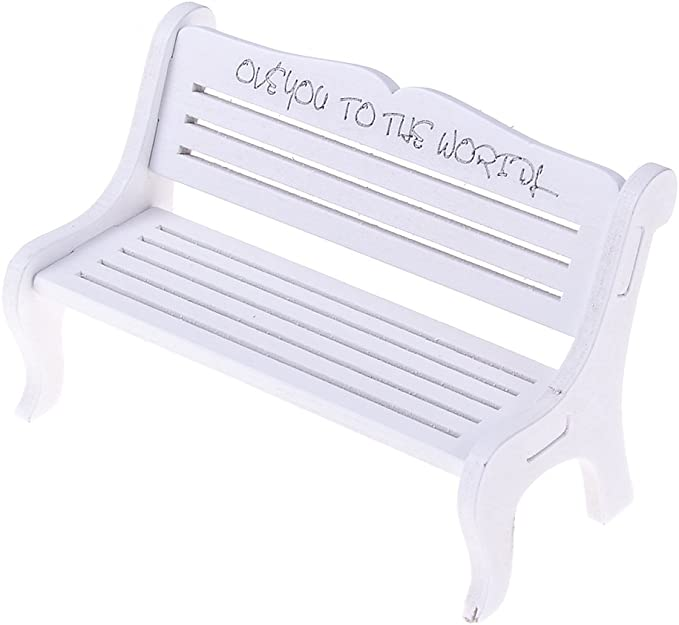 Garden Ornament Wooden Bench Chair Crafted for 30~55cm Dolls Furniture