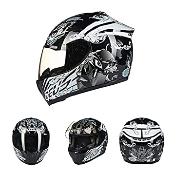 Oztklife Moto Crash Casco Modular De Alta Seguridad-Zeus Full Face Racing Casco De Moto