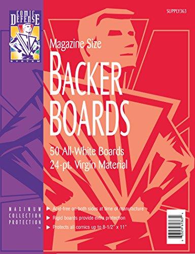 Comic Defense System Magazine Comic Book Backer Boards 8-1/2
