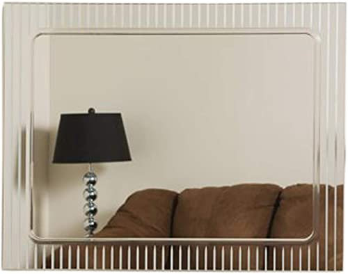 Decor Wonderland Frameless Deco Wall Mirror – 23.5W x 31.5H in.