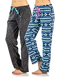 Ashford & Brooks Women's Plush Microfleece Pajama Sleep Pants 2 Pack