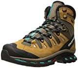 Salomon Women's Quest 4d 2 Gtx W Backpacking Boot, Shrew/Camel Gold Leather/Teal Blue Fabric, 8.5 M US