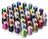 CR INDUSTRY 40 Assorted Colors Polyester Embroidery Machine Thread Set for Janome Brother