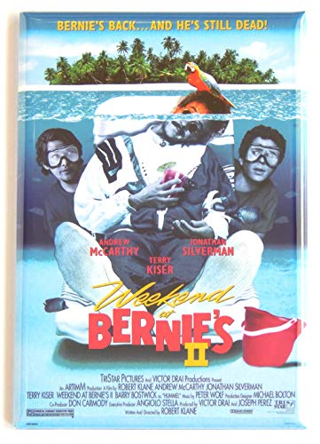 Weekend at Bernie's 2 Movie Poster Fridge Magnet (2 x 3 inches)
