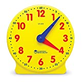 Toys : Learning Resources Big Time Student Clock, Teaching & Demonstration Clock, 12 Hour, Ages 5+
