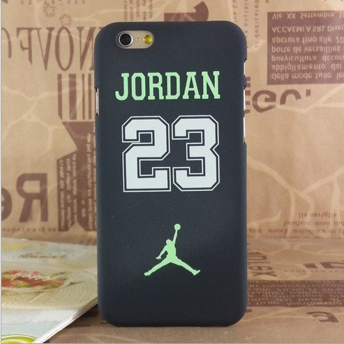 NEW AIR JORDAN LOGO JUMP SOFT PC CASE FOR APPLE IPHONE 5SE NO .23 GREEN BLACK