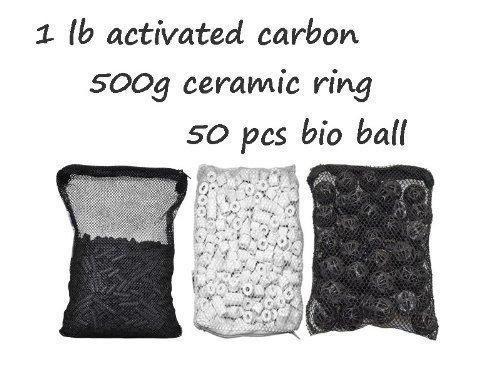 CNZ Aquarium Filter Media Kits, Activated Carbon, Bio Ball, Ceramic Ring