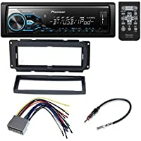 CAR RADIO STEREO CD PLAYER DASH INSTALL MOUNTING KIT HARNESS RADIO ANTENNA FOR CHRYSLER DODGE JEEP (BUNDLE- PACKAGE)