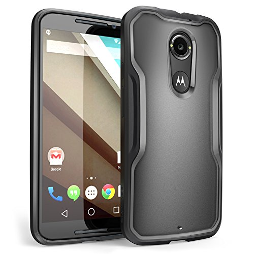 Moto X Case, SUPCASE [Unicorn Beetle Series] for All New Motorola Moto X (2nd Gen.) Phone 2014 Release, Premium Hybrid Bumper Case (Frost Clear/Black) - Not Fit Moto X Phone (1st Gen.) 2013 Release