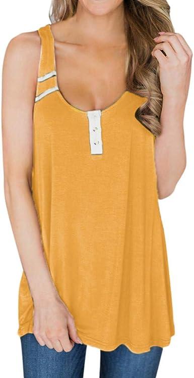 Eoeth Womens Summer Essentials Sleeveless O-Neck Letter Printing Tank T-Shirt Before Knotting Vest Tops Blouse