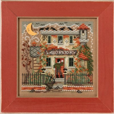 Haunted Laboratory Beaded Counted Halloween Cross Stitch Kit Mill Hill MH141623 Buttons & Beads 2016 Autumn ()