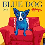 Blue Dog 2018 Wall Calendar