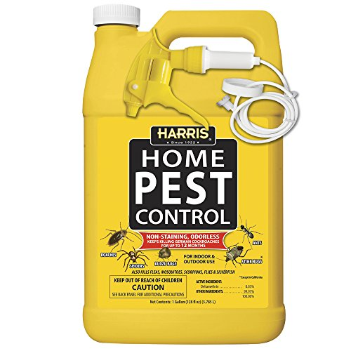 Harris Home Insect Killer, Liquid Gallon Spray with Odorless and Non Staining Residual Formula - Kills Ants, Roaches, Spiders, Kudzu Bugs, Stink Bugs, Fleas, Mosquitos, Scorpions, Flies and Silverfish