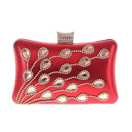 Color con Gold Borsa Red Kakjpsjaksml diamanti con pochette donna sera da da CSvw6ztq