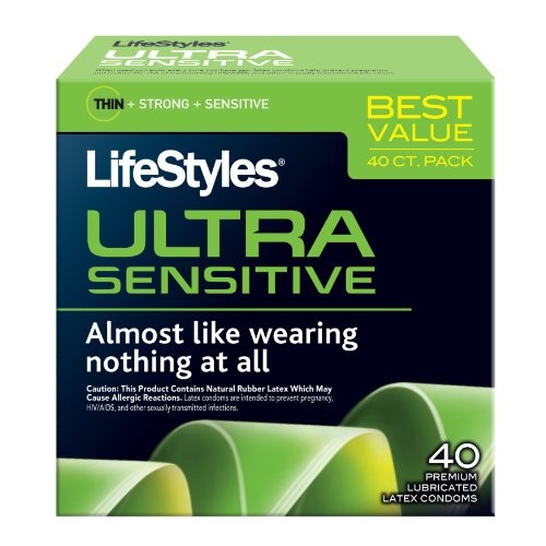 Modes de vie Ultra sensibles préservatifs, 40ct